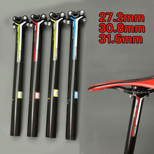 Mountain Road Bike Bicycle Carbon Fiber Seatpost High Strength Ultra-light Seat Tube 27.2/30.8/31.6mm Seat post Cycling Parts full carbon fiber road mountain bike seatpost mtb bicycle seat post tube vertical 0 degree 27 2 30 8 31 6 400mm 3k ud