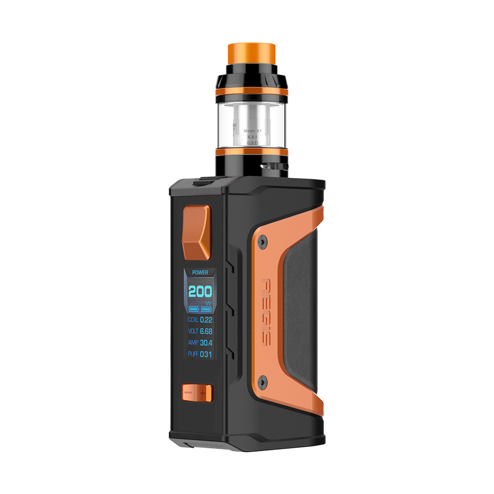 Original GeekVape Aegis Legend 200W TC Kit with 4ml Aero Tank Mesh Version e cigs Vape Kit No Battery include vs Aegis Kit
