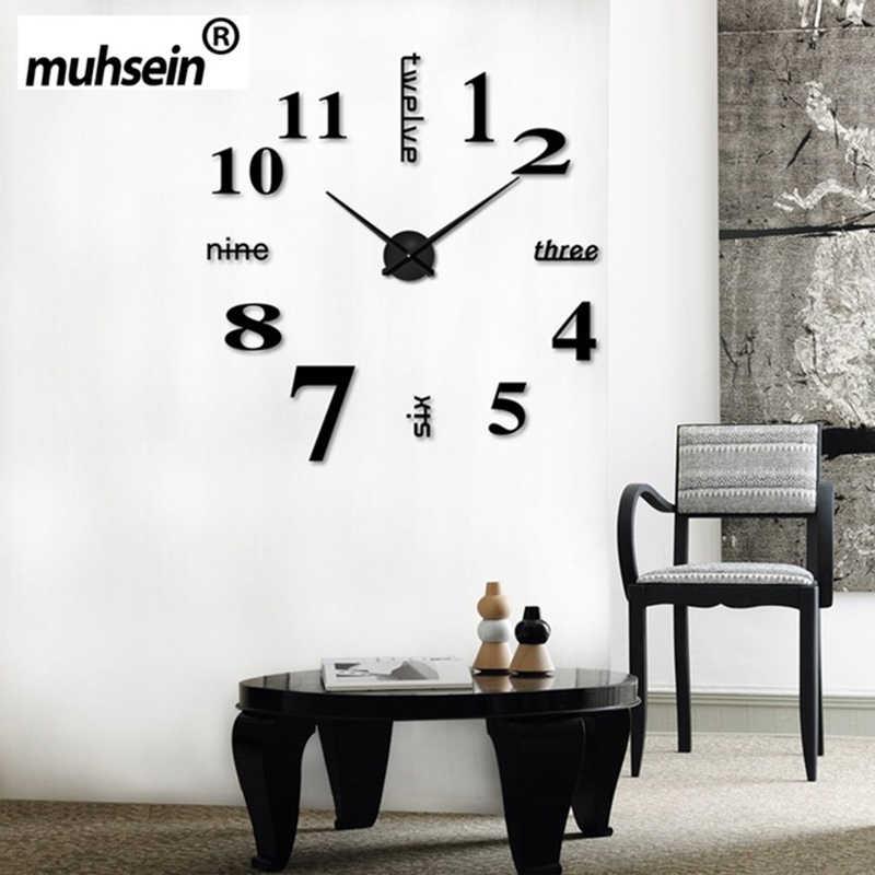 2019 new sale wall clock clocks reloj de pared watch 3d diy Acrylic mirror Stickers Quartz Modern Home Decoration free shipping