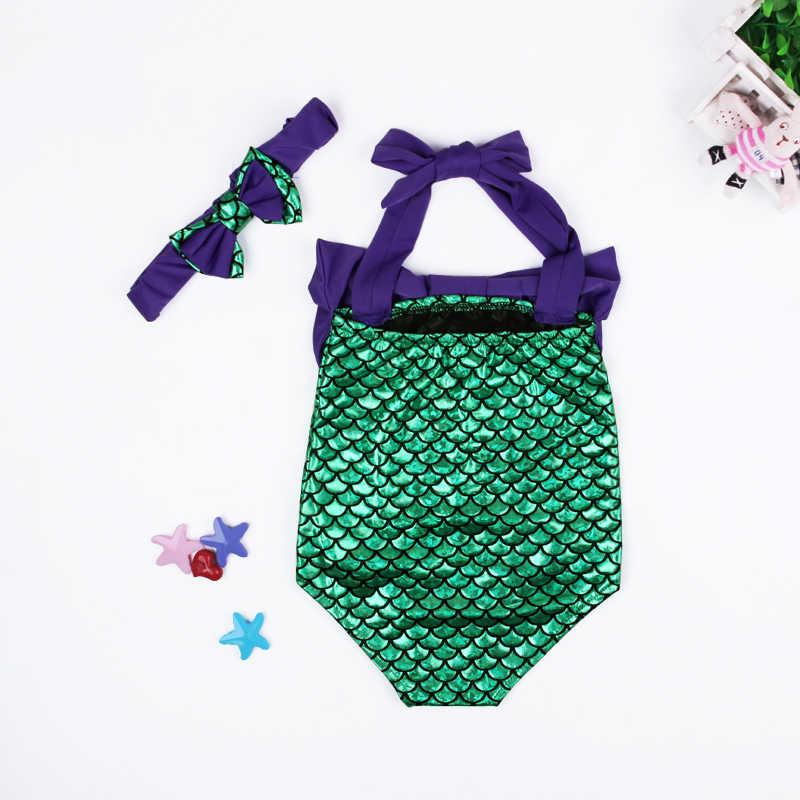 d842d341f7 ... Girls Swimwear Mermaid 2017 Cute Baby Bikini Sets Children Bathing Suit  Girls Suspender Tops+ Shorts Kids