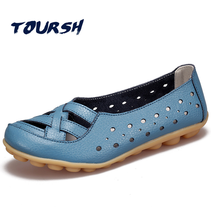 TOURSH Summer Shoes Woman Big Size Womens Moccasins Flats Shoes Woman Slip On Shoes For Women 2017 Ladies Shoes Footwear Women beyarne spring summer women moccasins slip on women flats vintage shoes large size womens shoes flat pointed toe ladies shoes