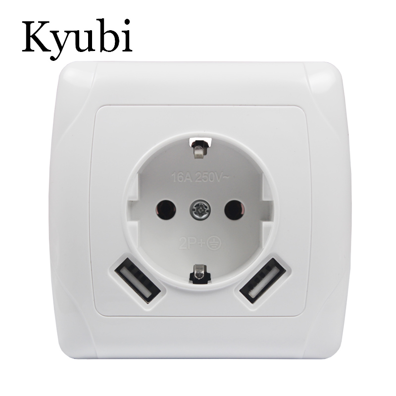USB Wall Socket Free shipping Double USB Port 5V 2A Usb enchufes para pared prise electrique prise usb murale steckdose A001