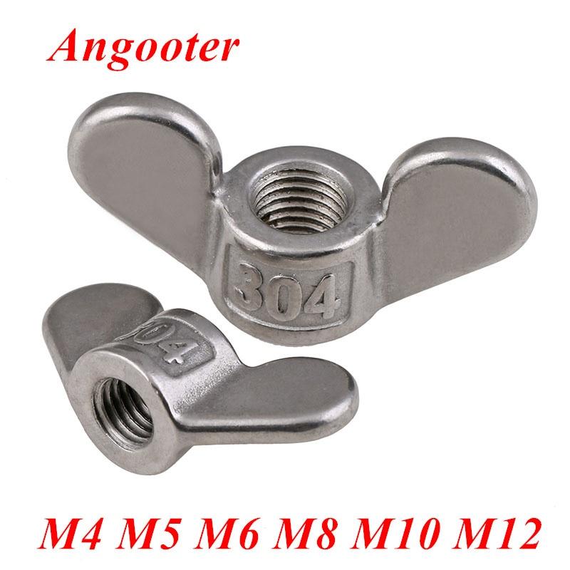 uxcell M8 Wing Nuts Stainless Steel 304 Hand Twist Tighten Ear Butterfly Nut 2 Pcs