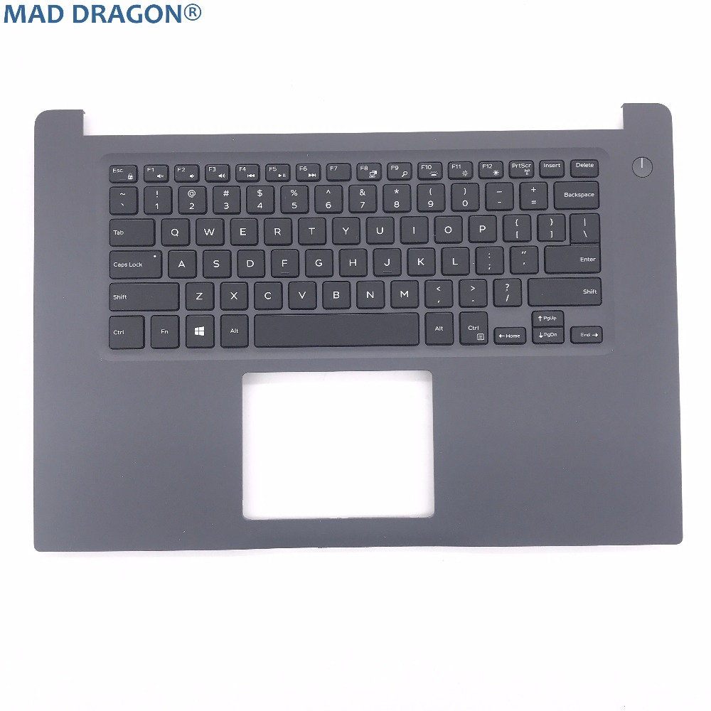MAD DRAGON brand new and original laptop parts  for DELL INSPIRON 15 7000 7560 US backlit keyboard and palmrest   RTJ7W  0RTJ7W new for sony vaio svf152c svf153 svf152c29x palmrest english us laptop keyboard touchpad case black no backlit