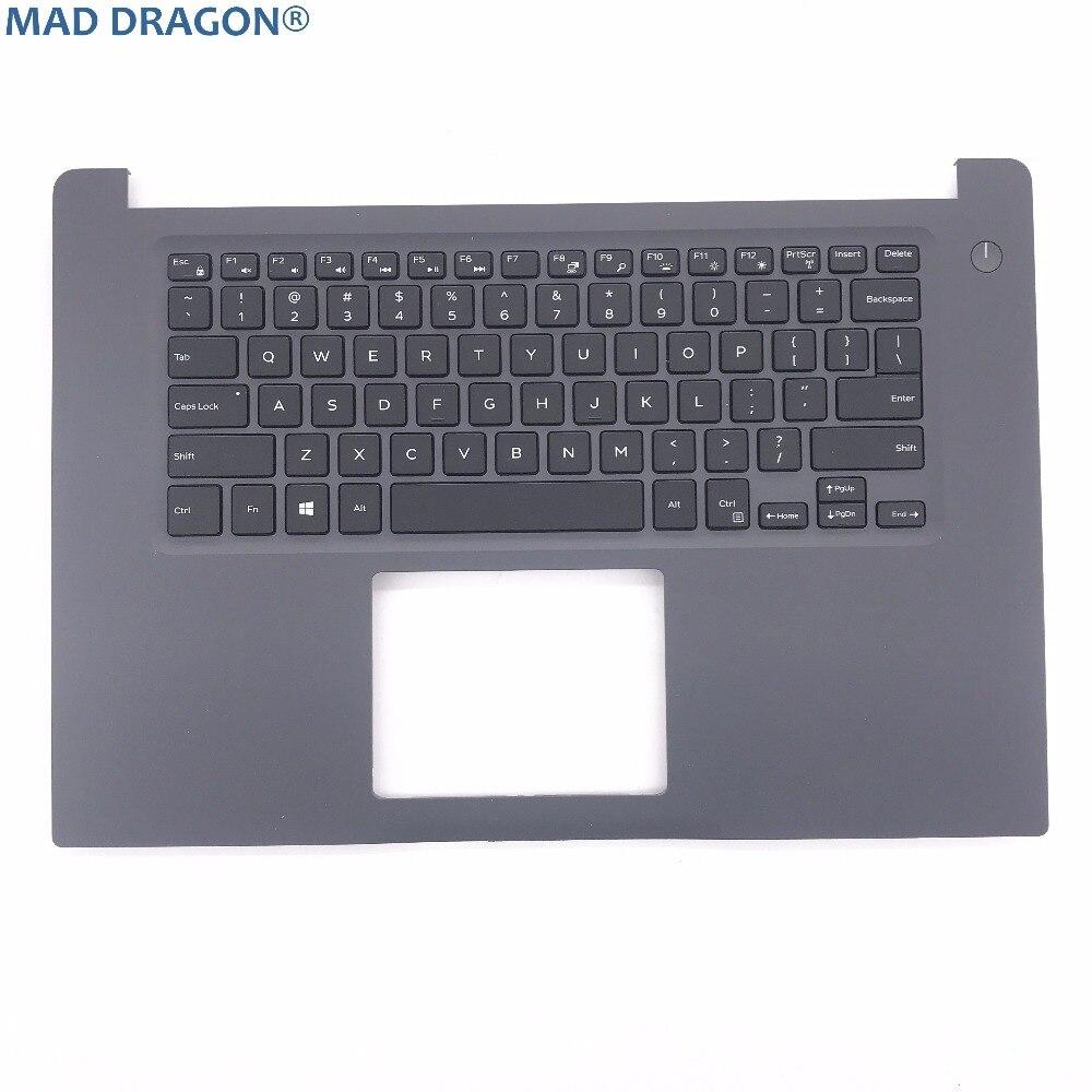 Pièces d'ordinateur portable flambant neuves et originales pour DELL INSPIRON 15 7000 7560 US clavier rétro-éclairé et repose-tête RTJ7W 0RTJ7W