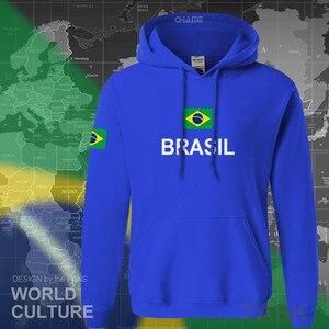 Image 3 - Sudadera de Brasil para hombre, ropa nueva, camisetas, jerseys, chándal, bandera brasileña, Brasil, forro polar BR, 2017