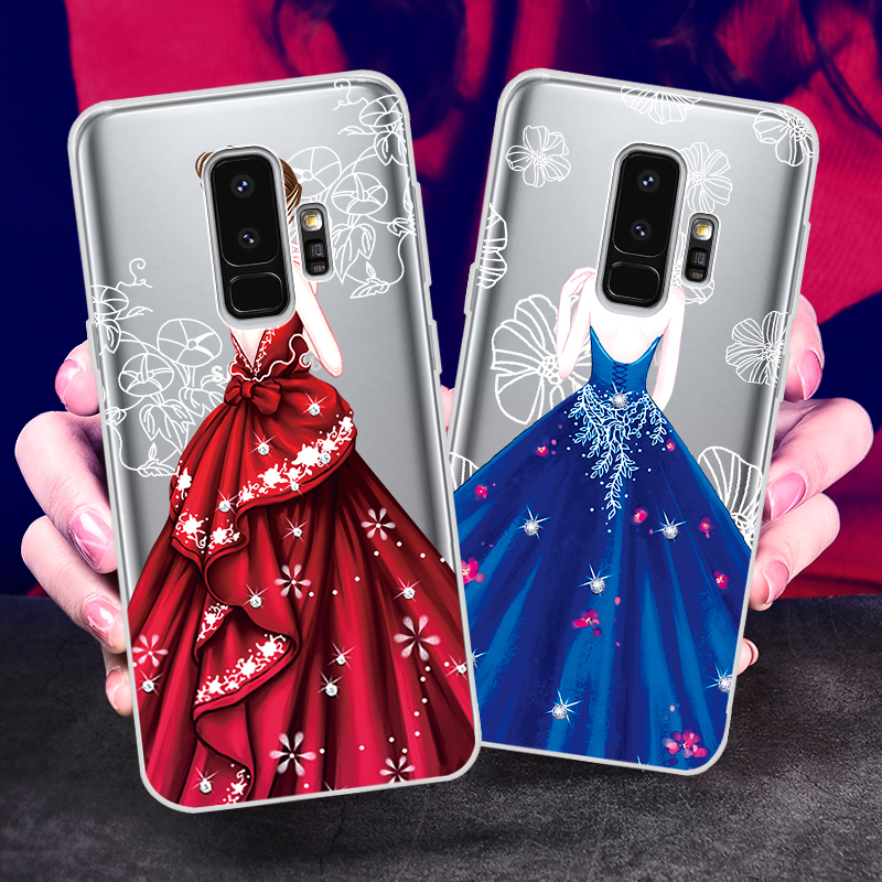 Beatuy Girl Samsung Galaxy S9 Case Silicon Cover For Samsung S7 Edge Coque For Galaxy S8 Galaxy S9 Plus