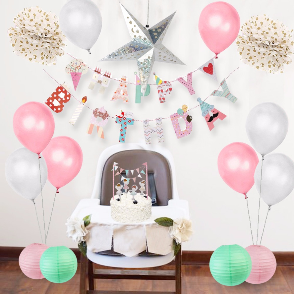 Baby Girl Shower Decorations Lovely Happy Birthday