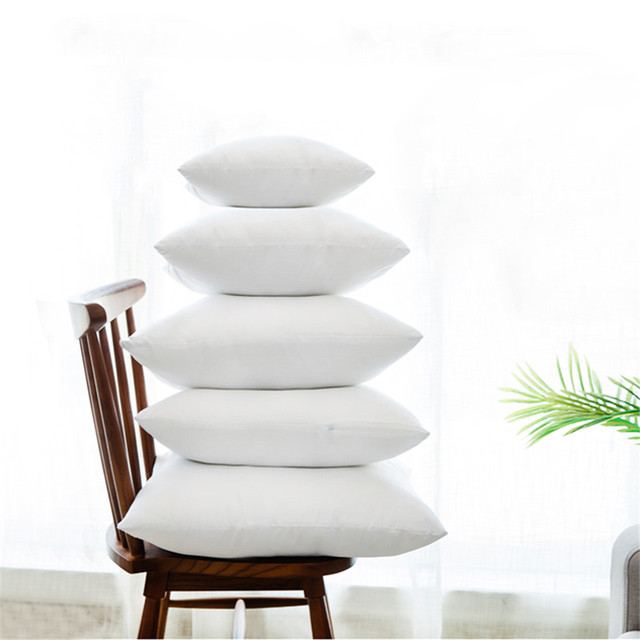 White Cushion Throw Pillow Core Inner Seat Cushion Filling