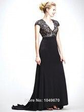 Mode 2016 Neue V-ausschnitt Kurzen Ärmeln Abendkleider Lange Chiffon-Formales Casual Frauen Keyhole Zurück Abschlussball-kleider Für Partei F & M-837