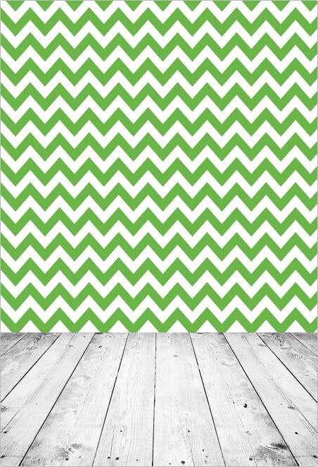 Personnaliser lavable sans rides blanc vert chevron photographie décors pour nouveau-né photo studio portrait arrière-plans F-1312