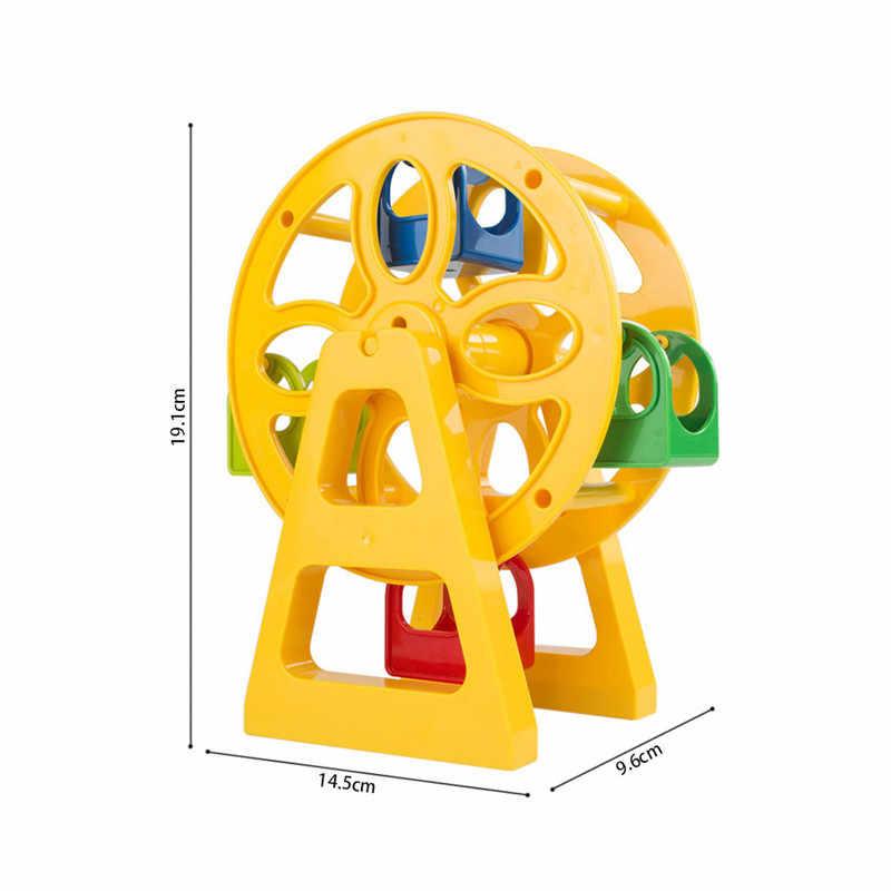 Diy accesorios de bloques de construcción deslizante Swing rueda de Ferris figura Compatible con Duploed juguetes de ladrillos para bebé para los niños regalo de los niños