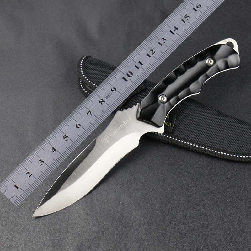 Outdoor K603 High hardness sharp 3Cr13Mov Blade camping Straight font b Knife b font Hunting font