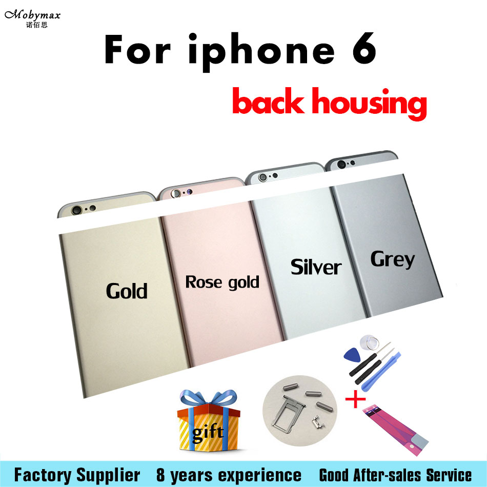 Top Quality 4.7For iPhone 6 Back Housing Style Battery Cover Door Rear Cover Chassis Middle Frame Can Customized IMEI Gift