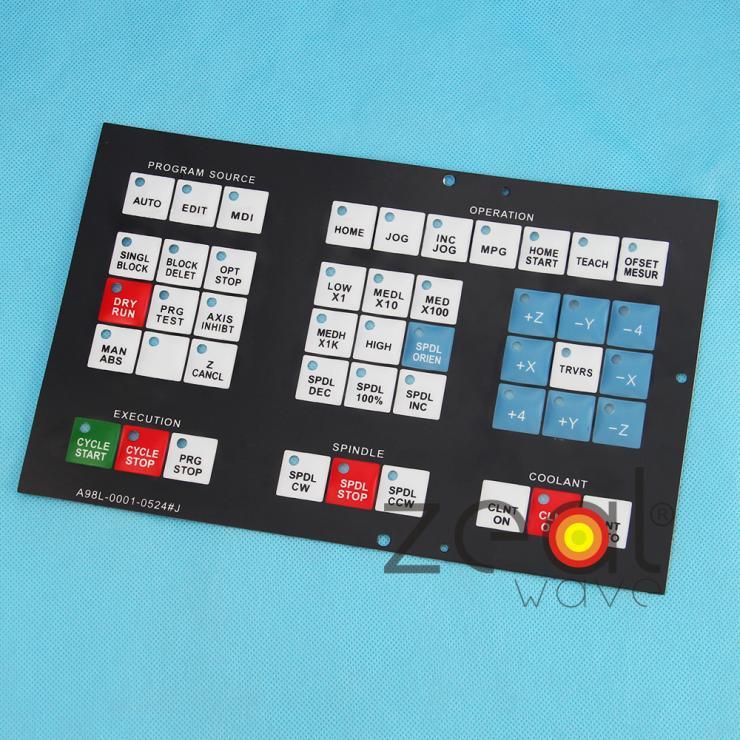 Free Shipping For Fanuc A98L-0001-0524J Membrane Keysheet Keypad Keyboard Protective Film