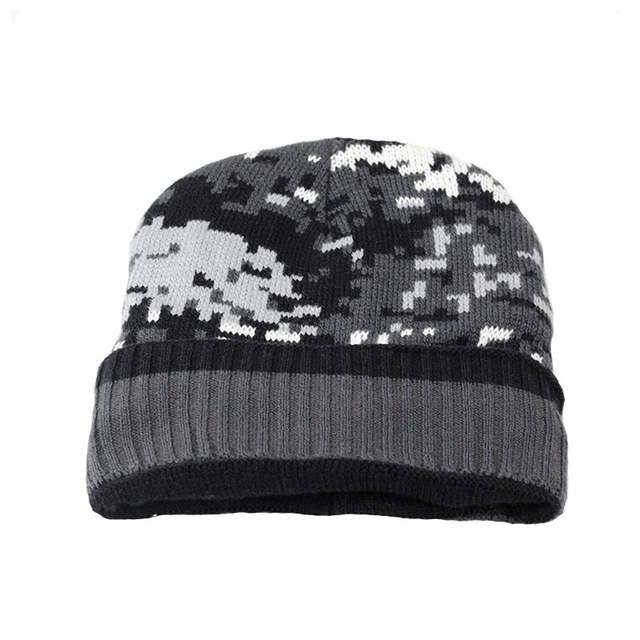 8aae1f91813 Online Shop Thicken Fleece Lining army Camouflage Hat for Men Hunting CS  Winter hat Warm Beanies Knit Camo Ski Hats Winter climbing fishing