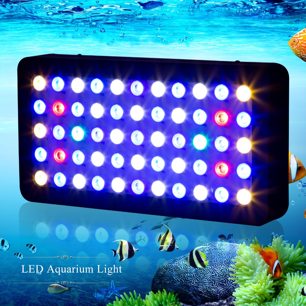 Best full spectrum Dimmable 165W Led Aquarium Light 120degree beam angle leds for Coral reef Fish pet plant growth tank lighting
