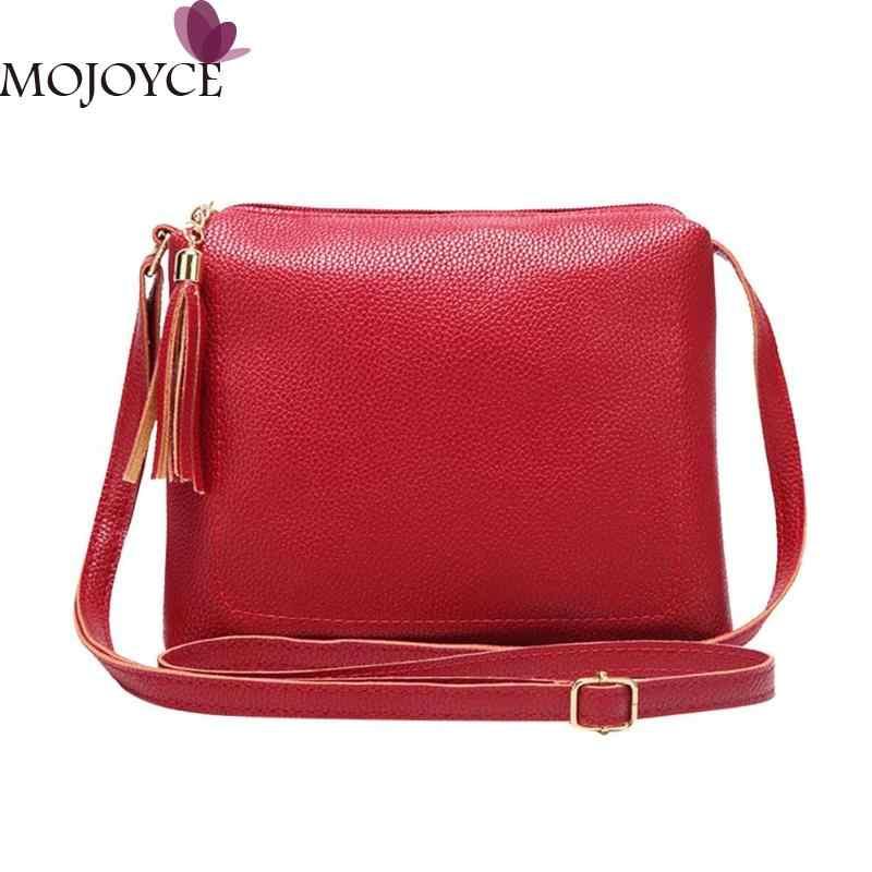 6c0c008dd17e Модные женские туфли одноцветное телефон сумка из искусственной кожи с  кисточками сумки на плечо женский сплошной