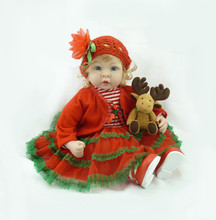 55 см Силиконовые Возрождается Детские Игрушки Куклы С Аксессуарами Винил Toddle Принцесса Куклы Девочки Играют Дома Игрушки День Рождения Рождественский Подарок