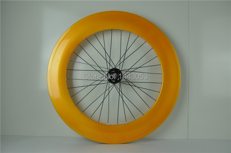 DIY carbon clincher wheels rear wheel Fixed Gear 88mm clincher paint finish glossy free shipping|wheel fixed gear|rear wheel fixed|88mm clincher - title=