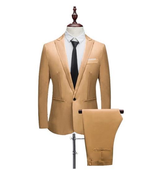 De Goedkoopste Prijs Aangepaste Hoge Kwaliteit Nieuwe Mannen Blazer + Broek Zakelijke Bruiloft Banket Gentleman Kleding Slim Fit Elegante Pak