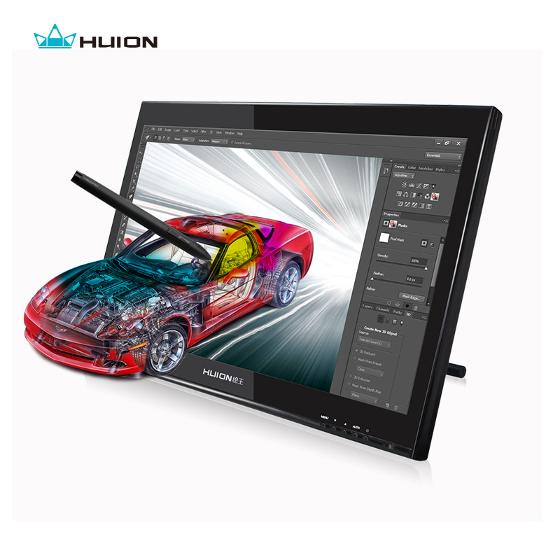 Huion 19 Professional Art Graphics Drawing Pen Display Tablet Monitor GT 190 Gifts Black Glove