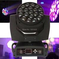 Высокое качество 19x15 RGBW 4in1 Zoom Вымойте луча привело пчелы Средства ухода для век перемещение головы огни для этап DJ диско лазерного свет