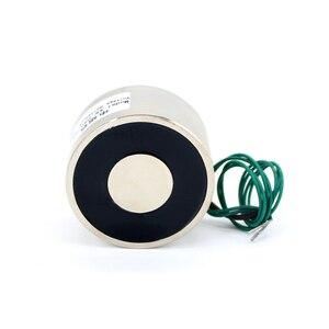Image 2 - Eletroímã eletromagnético, 50*27 dc 6v 12v 24v à prova d água tomada energia 50kg sugador bobina de ímã elétrica solenóide portátil poderoso do elevador 12