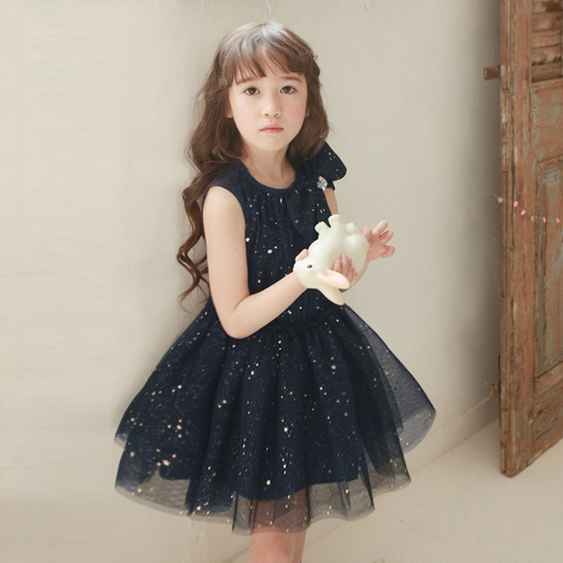 3-8Y toddler Girls summer dress Sleeveless Pink Sequined children princess Bow kids party dresses girls wedding - WESAY JESI W Co. Ltd. Store store