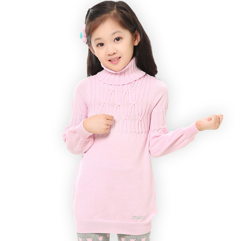 Children Girls Sweaters Dress Turtleneck Long Sleeve Toddler Kids Knit Dresses Fashion Candy Color Infant Baby Knitwear Clothing turtleneck 3 4 sleeve cut out midi dress
