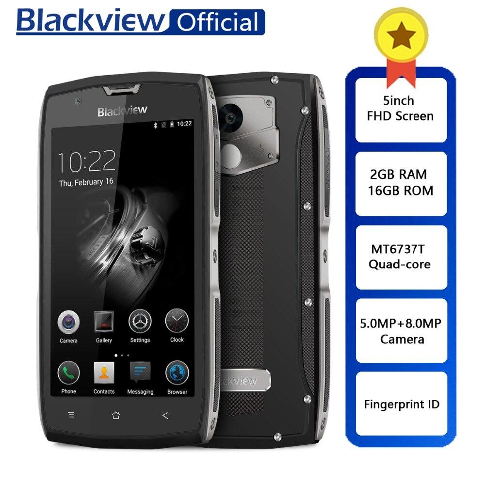 Blackview BV7000 IP68 Waterproof Smartphone MT6737T Quad Core 2GB+16GB 5inch FHD Screen NFC Fingerprint 4G Dual SIM Cellphone