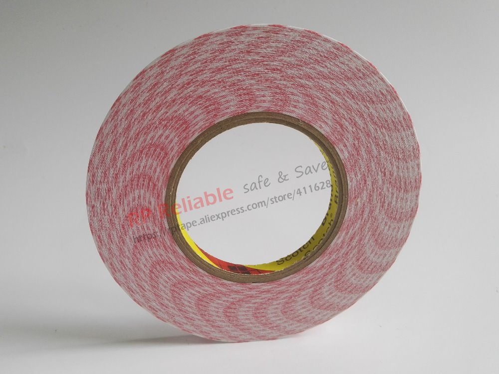 Original 3M Double Sided Adhesive Tissue Tape, Wide Use For Home, Electircs, Office White Board, Nameplate Label, Display