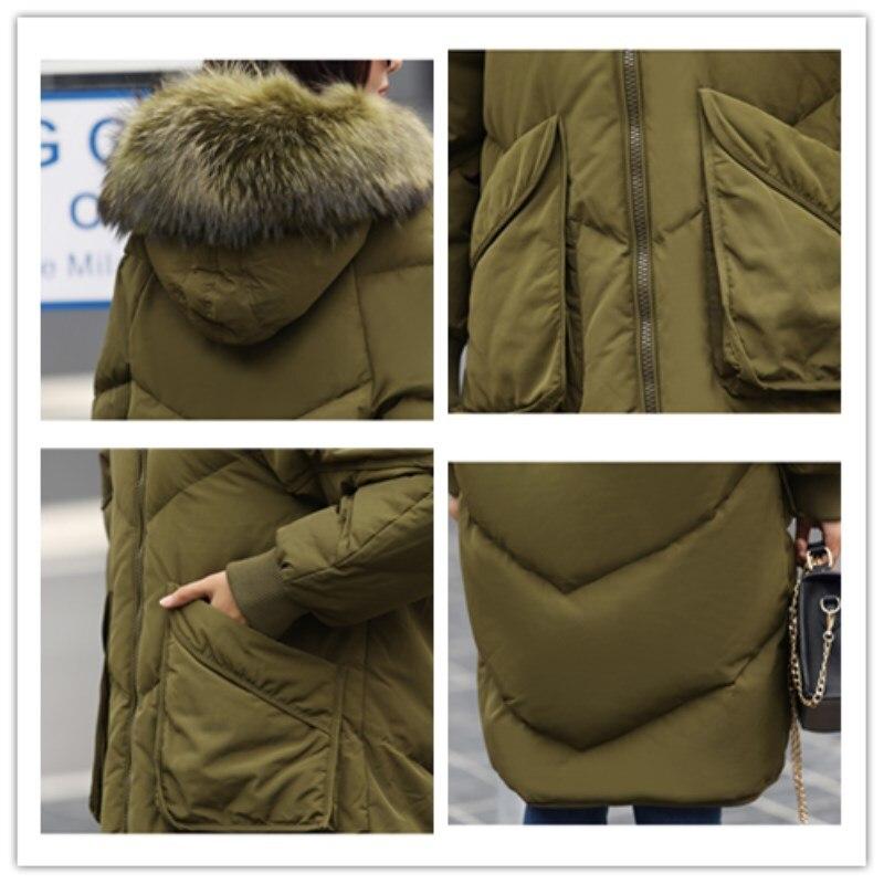 Fourrure Bas Black Solide Grande Veste Survêtement D'hiver Col De Long Taille Manteau Mode Femmes Vers army Épaissir 2018 À Green Le Capuche Chaud Cz303 IqZ1WpWUxw