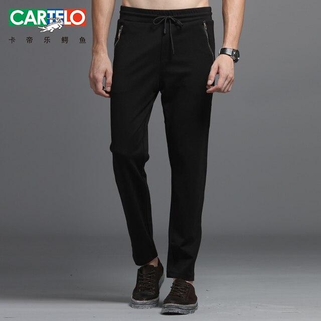 Cartelo бренд 2017 новый мужской моды случайные вязать сплошной цвет брюки чистый дикий мужской маленькие ноги длинные брюки