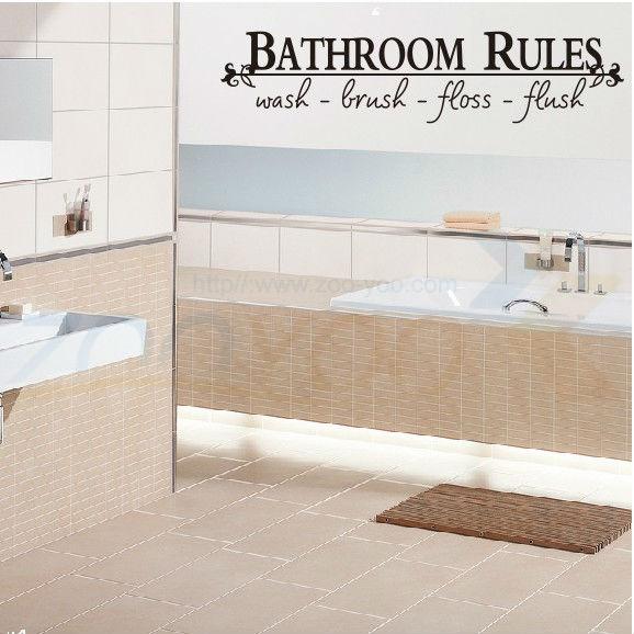 badkamer regels home decor creatieve citaat muurtattoo decoratieve adesivo de parede woorden letters art decals zyva