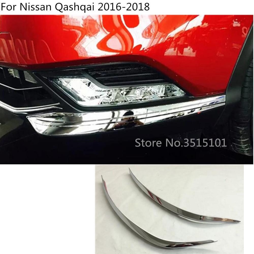 Car Body Head Front Fog Bumper Eyebrow Light Lamp Trim Frame Stick ABS Chrome Cover 2pcs For Nissan Qashqai 2016 2017 2018|for nissan qashqai|covers for qashqaitrim cover - AliExpress