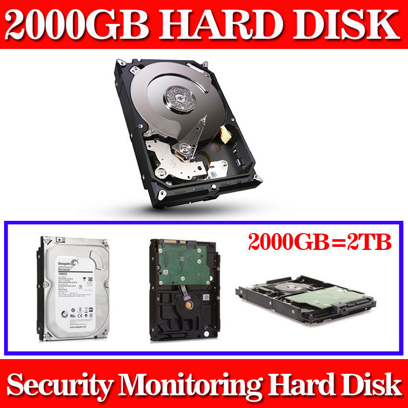 New 2000GB 3.5 inch SATA monitoring Hard Drive Hard Disk 64MB 7200rpm for Standalone DVR recorder cctv system+Free shipping 1tb 2tb 3tb 4tb optional 3 5 inch sata interface hard disk drive for cctv surveillance system security dvr nvr kit video record