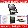 New 2000GB 3.5 inch SATA monitoring Hard Drive Hard Disk 64MB 7200rpm for Standalone DVR recorder cctv system+Free shipping