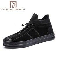 Northmarch Демисезонный модные повседневные мужские ботинки Для мужчин S из натуральной кожи роскошные Брендовая Дизайнерская обувь кожаные кр