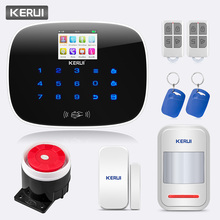Wireless Wired G19 GSM SMS RFID Home House Burglar Alarm System Security Black+KERUI WIFI APP HD camera kerui w193 wifi 3g gsm pstn rfid wireless burglar smart home security alarm system with outdoor waterproof siren motion detector