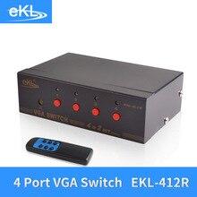 EKL 4x Input 2x Output VGA Splitter Switch with Remote IR Controller 4 Way Switcher Resolution 1920×1440