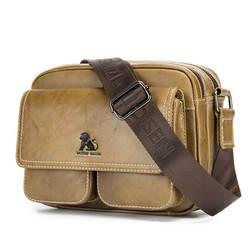 Мужская Натуральная кожа новая ретро мульти-карман высокого качества большой емкости дальние путешествия двойная молния сумка-мессенджер