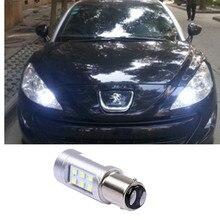 Luz LED diurna para coche, Luz antiniebla para peugeot 1157, peugeot 308, RCZ, Citroen, C4L, Fiat Viaggio, BA15D, 408
