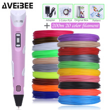 Original Model 3d Pen 3 d Drawing Printer Pens Set With 100/200 Meter PLA Plastic Filament  DIY Toys For Children Birthday Gifts 3d pen 3 d printing drawing pens with lcd screen for doodle model making arts and crafts with 100 meter 1 75mm pla filament