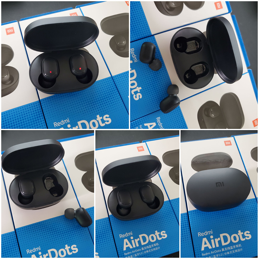 100% Original Xiaomi Redmi AirDots TWS Bluetooth Earphone Stereo MI AirDots Wireless Bluetooth 5.0 Headset With Mic Earbuds