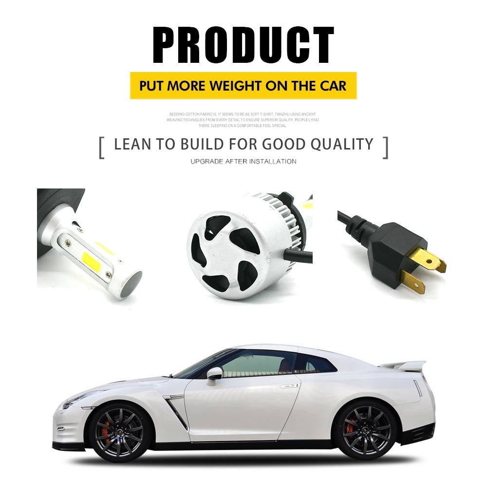 Modifygt S2 LED H4 Led H7 Led H11 H1 H3 9005 9006 8000LM 12V 72W 6500K COB Car Headlight Bulbs HiLo Beam Auto Headlamp led light in Car Headlight Bulbs LED from Automobiles Motorcycles