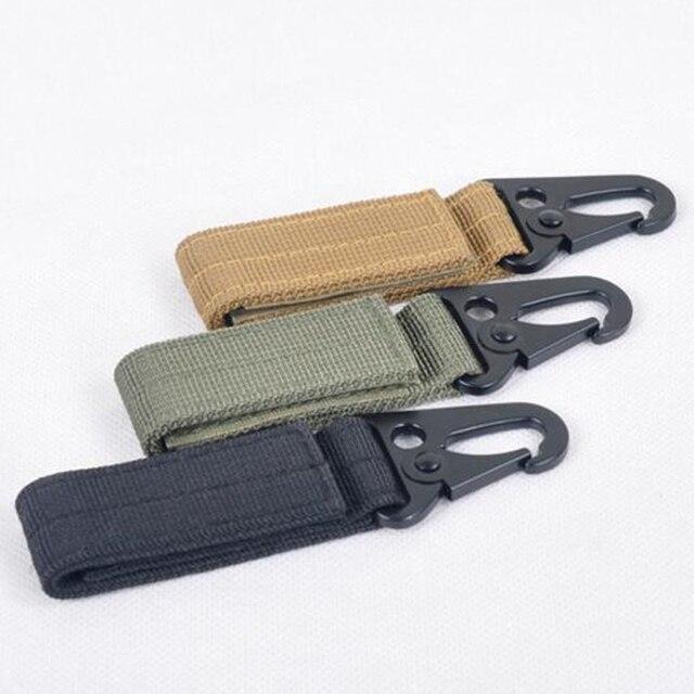 Tactical Molle Hanging Belt Carabiner Key Hook Webbing Buckle Strap Clip Backpack FW206