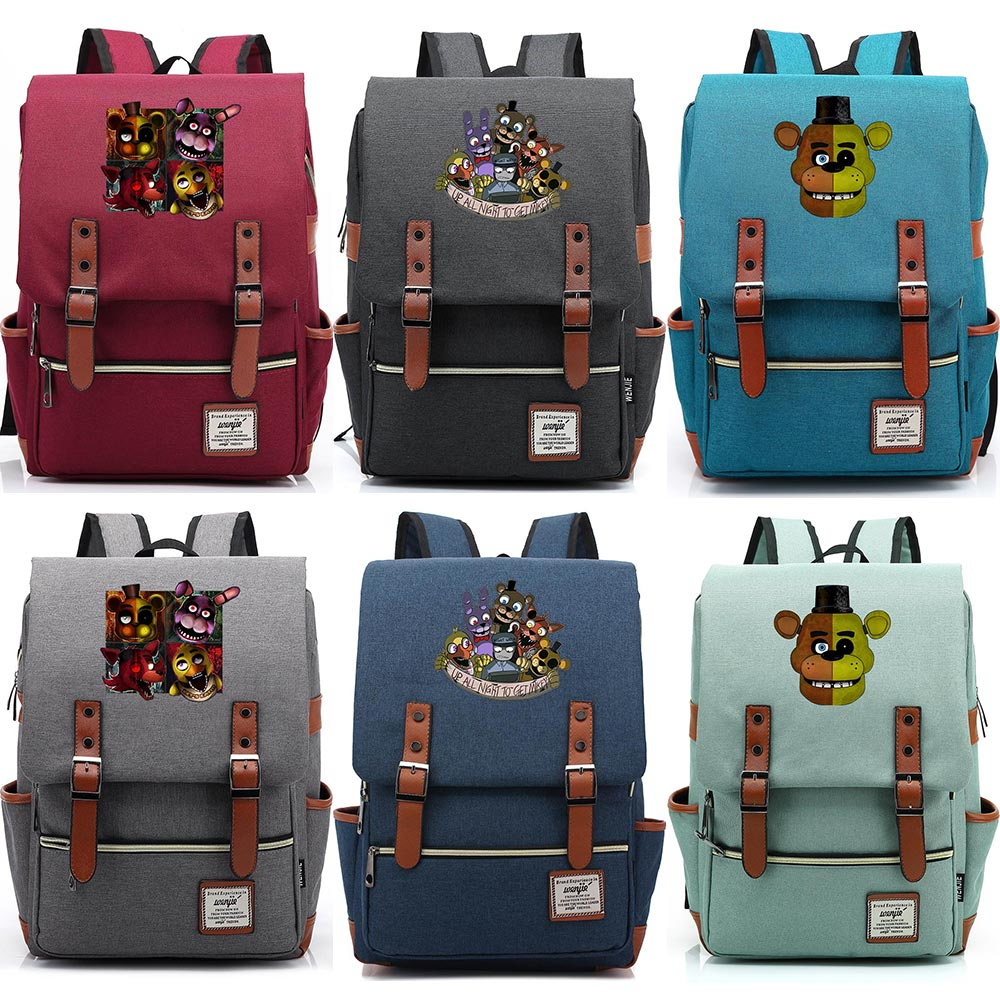 Hot Terror Games Five Nights at Freddys Boy Girl Student School bag Teenagers Schoolbags Canvas Women Bagpack Men Belt BackpackHot Terror Games Five Nights at Freddys Boy Girl Student School bag Teenagers Schoolbags Canvas Women Bagpack Men Belt Backpack