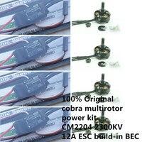 100% Оригинал Кобра бренд multirotor Power Kit cm2204 2300kv бесщеточным Мотором и 12a ESC для поделок мини Drone Race Quadcopter