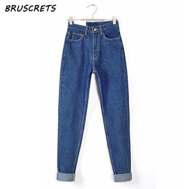 2017 Vintage Black Boyfriend Jeans For Women High Waist Denim Jeans Vintage  Slim Mom Pencil Jeans